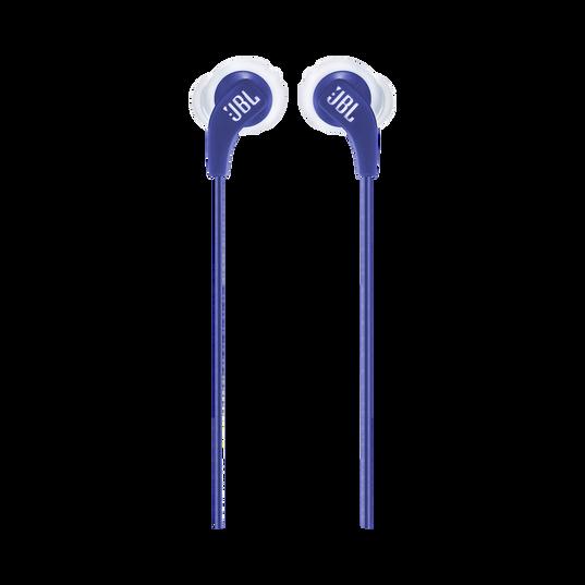 JBL Endurance RUN - Blue - Sweatproof Wired Sport In-Ear Headphones - Front