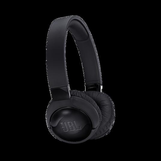 JBL TUNE 600BTNC - Black - Wireless, on-ear, active noise-cancelling headphones. - Hero