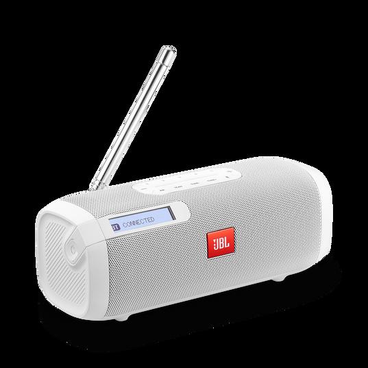 JBL Tuner FM - White - Portable Bluetooth Speaker with FM radio - Hero