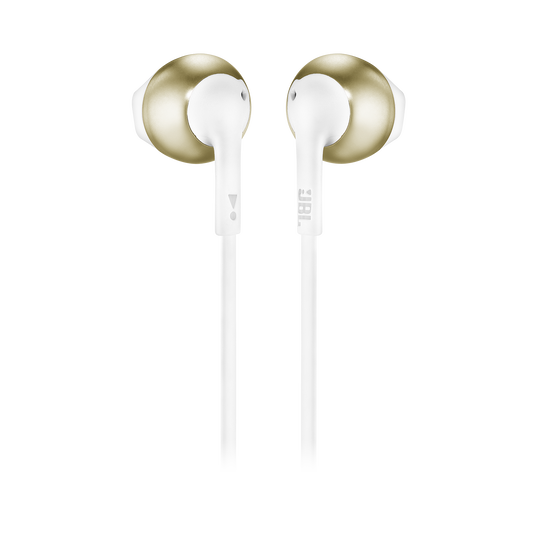 JBL TUNE 205BT - Champagne Gold - Wireless Earbud headphones - Back