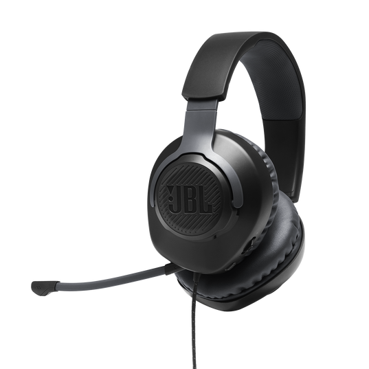 JBL Quantum 100 - Black - Wired over-ear gaming headset with a detachable mic - Hero