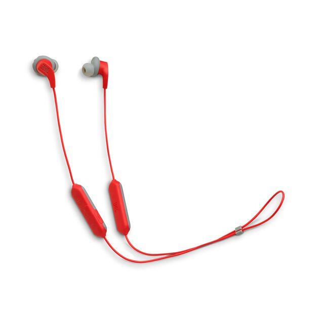 JBL Endurance RUNBT - Red - Sweatproof Wireless In-Ear Sport Headphones - Hero