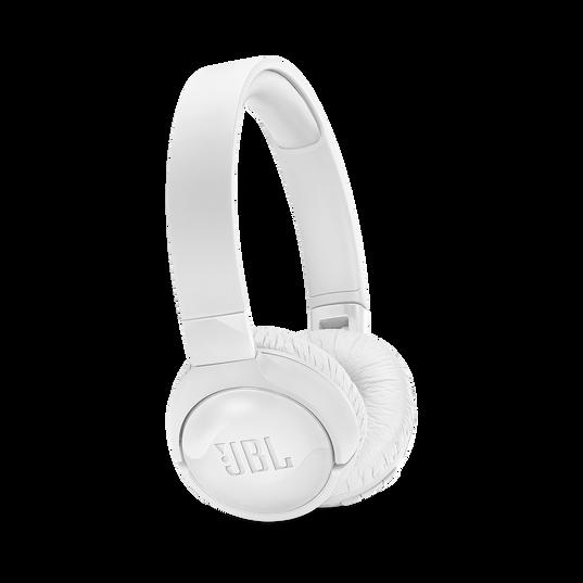 JBL TUNE 600BTNC - White - Wireless, on-ear, active noise-cancelling headphones. - Hero