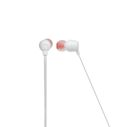 JBL TUNE 115BT - White - Wireless In-Ear headphones - Front