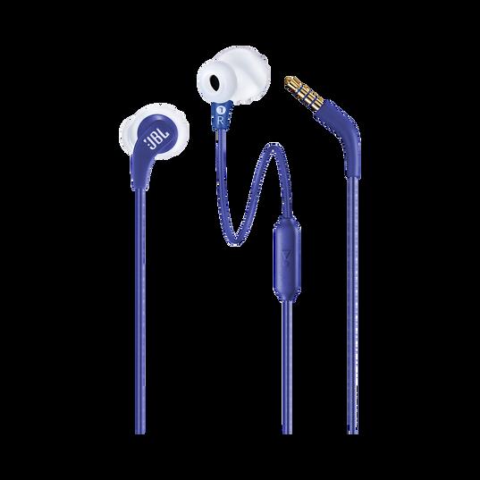 JBL Endurance RUN - Blue - Sweatproof Wired Sport In-Ear Headphones - Detailshot 1