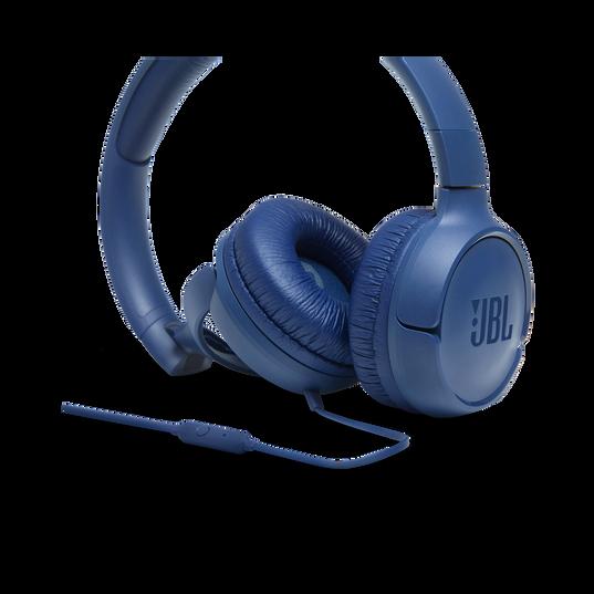 JBL TUNE 500 - Blue - Wired on-ear headphones - Detailshot 3