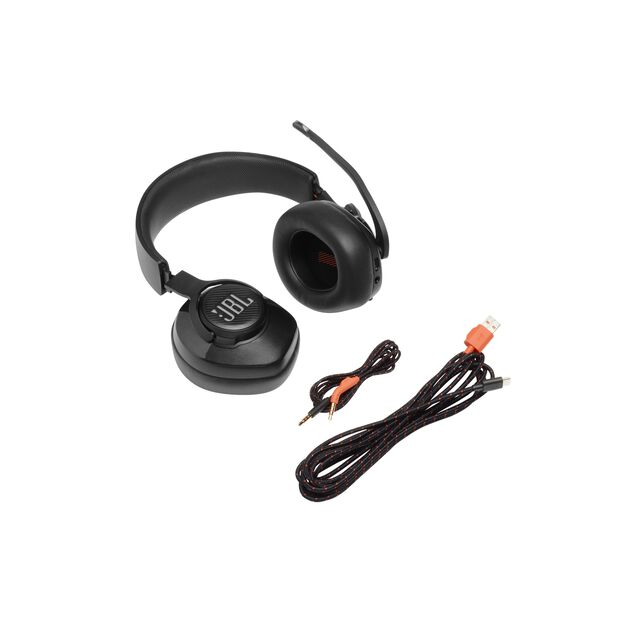 JBL Quantum 400 - Black - USB over-ear gaming headset with game-chat dial - Detailshot 9