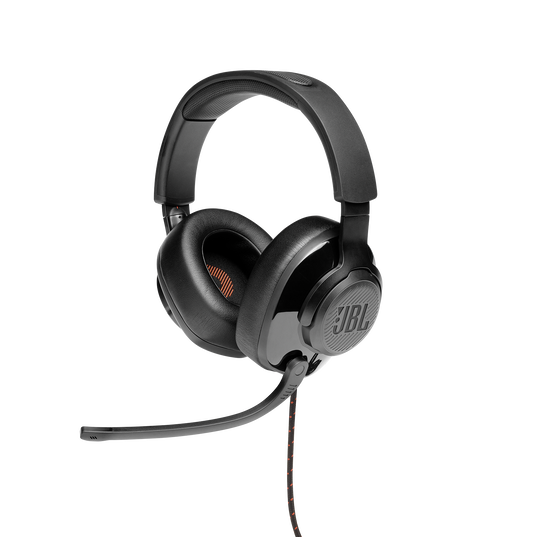 JBL Quantum 200 - Black - Wired over-ear gaming headset with flip-up mic - Detailshot 5