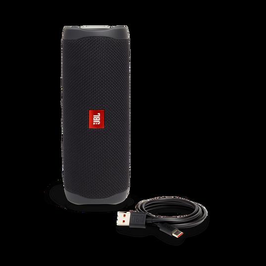 JBL FLIP 5 - Black Matte - Portable Waterproof Speaker - Detailshot 1