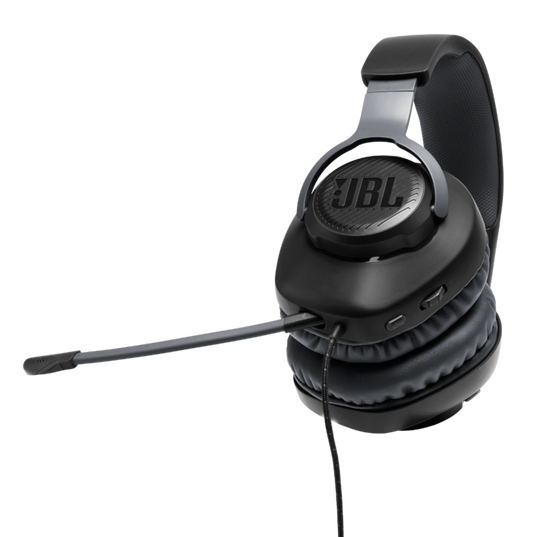 JBL Free WFH - Black - Wired over-ear headset with detachable mic - Detailshot 1