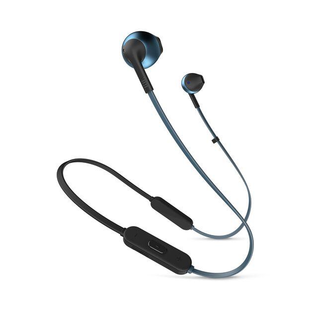 JBL TUNE 205BT - Blue - Wireless Earbud headphones - Hero