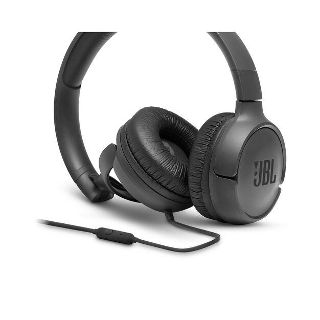 JBL TUNE 500 - Black - Wired on-ear headphones - Detailshot 3