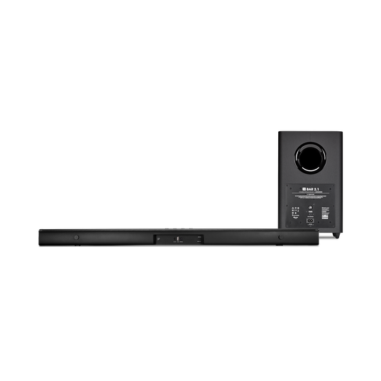 JBL Bar 2.1 - Black - 2.1-Channel Soundbar with Wireless Subwoofer - Back